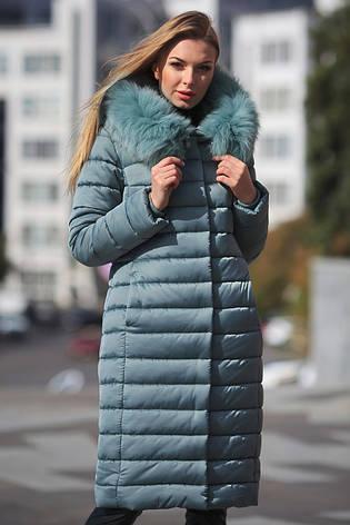 Зимний пуховик женский LS-8816-7, (фисташка), фото 2