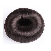 Бублик, валик, пончик, донат для пучка балерины из искусственных волос, диаметр 6 см шоколад
