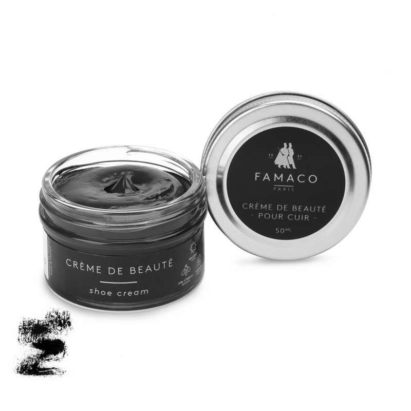 ✅ Черный крем для обуви Famaco Creme De Beaute, 50 мл