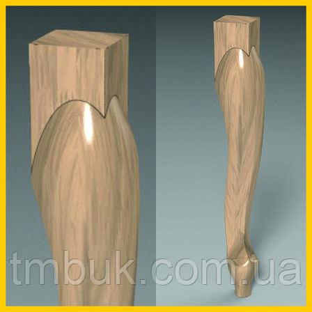 Ножка классическая кабриоль для стула, кресла, столика, деревянной мебели. Резная из дерева. 500 мм, фото 2