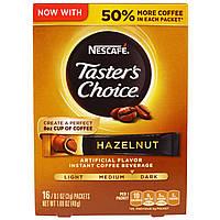 Nescafé, Выбор Гурмана, напиток из растворимого кофе, фундук, 16 упаковок по 3г каждый.