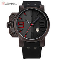Мужские наручные часы Shark SH172 Black Silicone Quartz Army Wrist Men Sport Watch