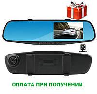 Зеркало заднего вида с видеорегистратором DVR FullHD 1080p B1 с двумя камерами Gold , фото 1