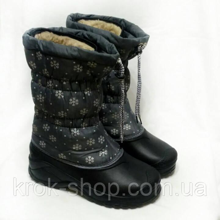 Бахилы женские на шнуровке со вставкой Крок оптом