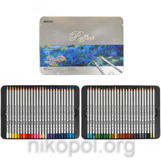 Набор цветных карандашей MARCO Raffine 7100-50TN, 50 цвета