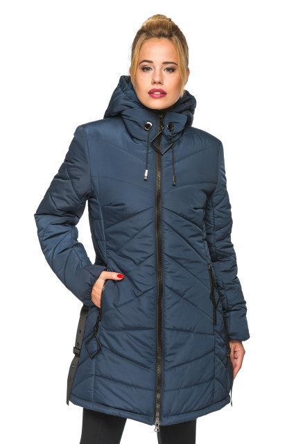 Модная женская куртка Амина синий (44-52)
