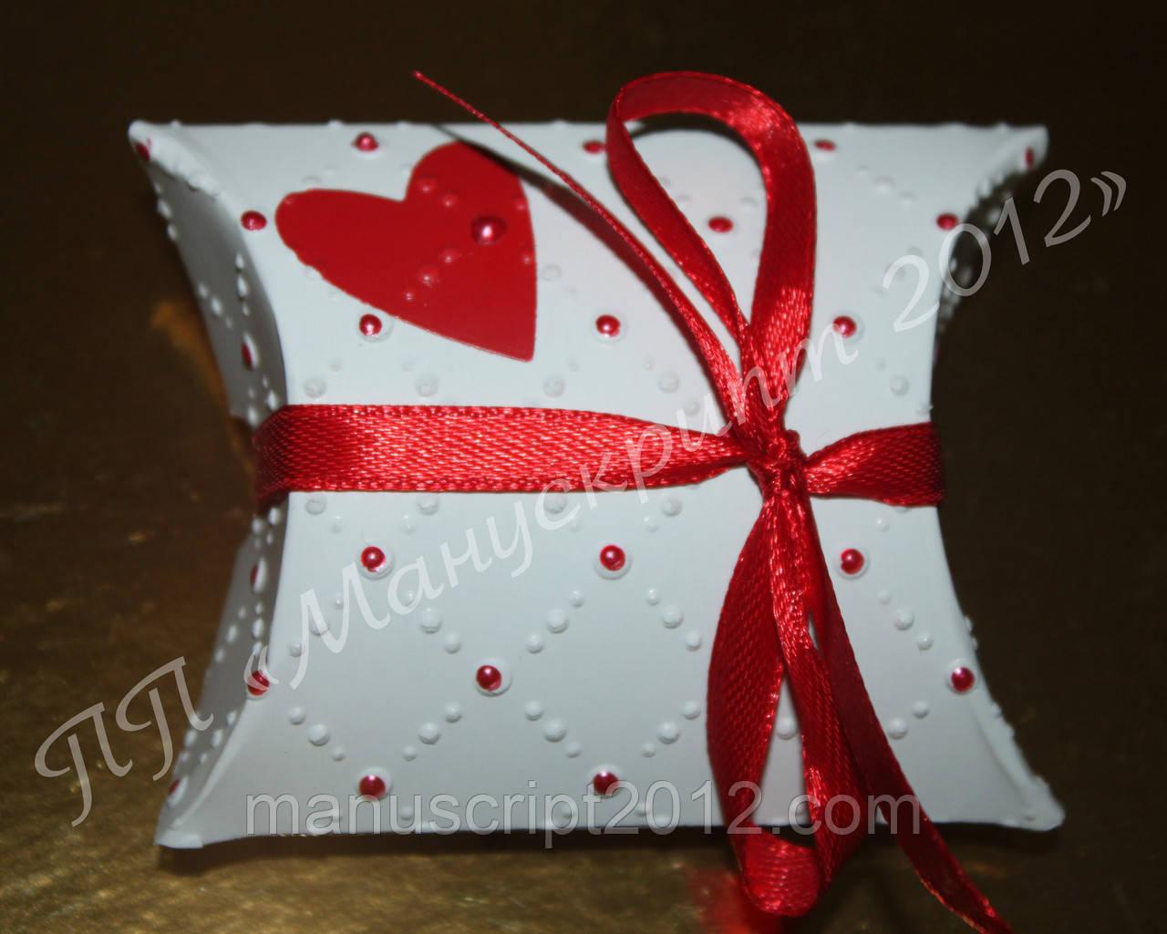 Коробочка для упаковки подарка на День Св.Валентина
