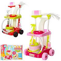 Детский игровой набор для уборки Little Helper( 667-34-3) с пылесосом и тележкой
