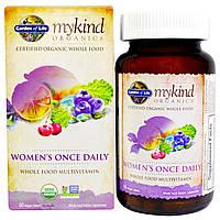 Garden of Life, KIND Organics, Womens Once Daily, 60 веганских таблеток