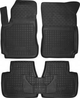 Коврики в салон Citroen C4 2010- черный, кт - 4шт