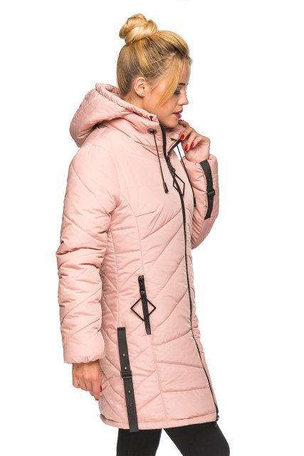 Модная женская куртка Амина пудра (44-52)
