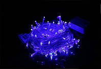 Новогодняя светодиодная гирлянда 100 диодов синяя