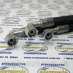 Рукав высокого давления РВД S30 (М24 х 1,5) L-0,2 м с углом 90 градусов ( Н.036.85 (давление-160 МПа) )