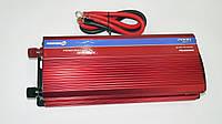 Инвертор преобразователь 24V-220V 2000W с вольтметром , фото 1