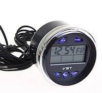 Автомобильные часы вольтметр 7042V в классику, фото 1