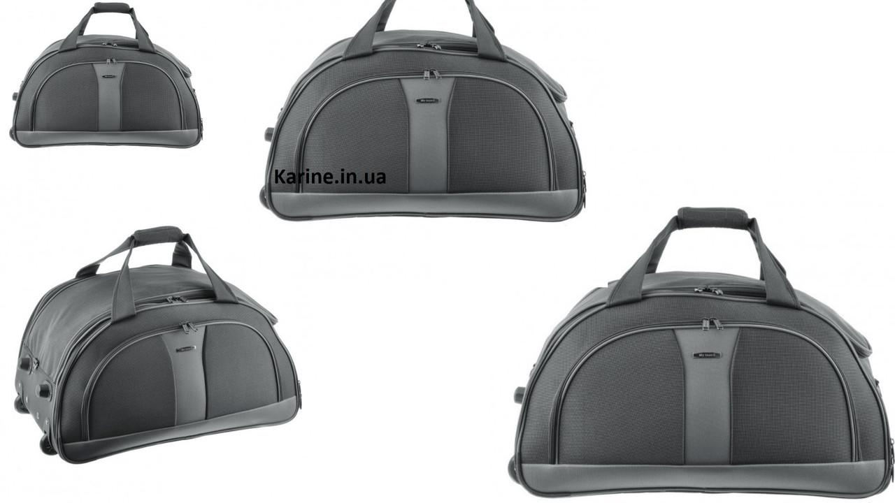 33d47b6561e2 Купить Набор дорожных сумок на колёсах 4-ка серый недорого в Киеве в ...