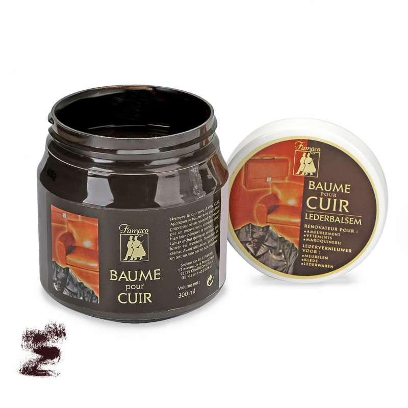 ✅ Темно-коричневый бальзам для изделий из гладкой кожи Famaco Baume Pour Cuir, 300 мл