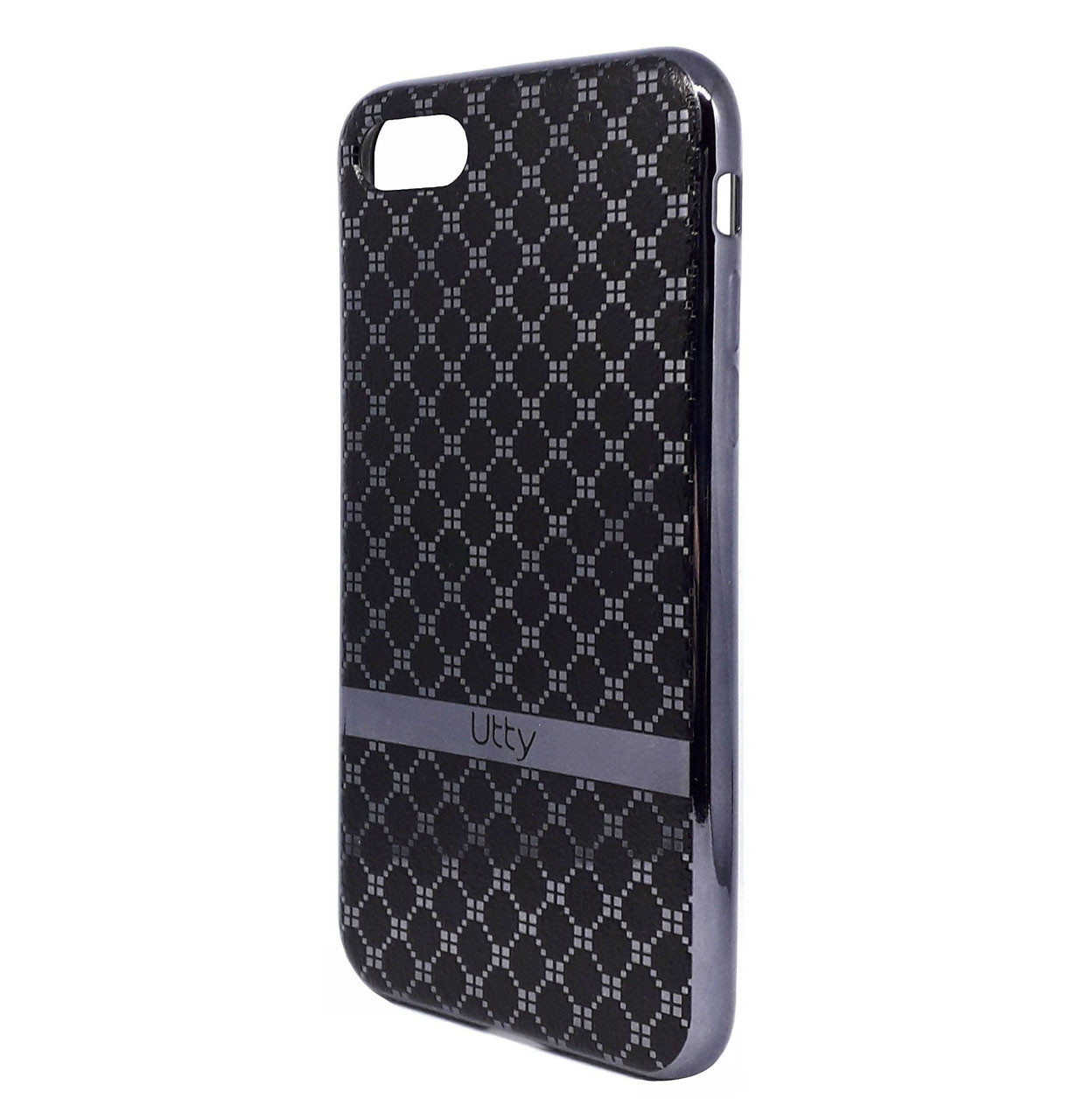 Чехол (накладка, бампер) Utty Pattern Electroplating на IPhone 7/8 Grey (08A)