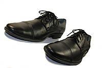 Черные мужские туфли на шнурке