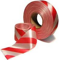 Лента сигнальная, оградительная лента, лента красно-белая