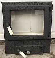 Дверца для печи, барбекю и камина 480*440 мм, дверца чугунная со стеклом, фото 1