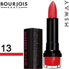 Bourjois Губная помада Rouge Edition Тон 13 rouge jet set