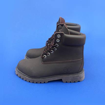 Мужские ботинки Timberland без меха коричневые топ реплика, фото 2