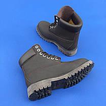 Мужские ботинки Timberland без меха коричневые топ реплика, фото 3