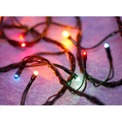 Новогодняя лампочная гирлянда 400 лампочек мульти