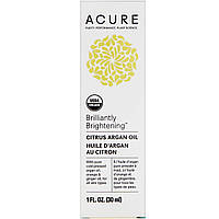 Acure, Brilliantly Brightening, Citrus Argan Oil, 1 fl oz (30 ml)