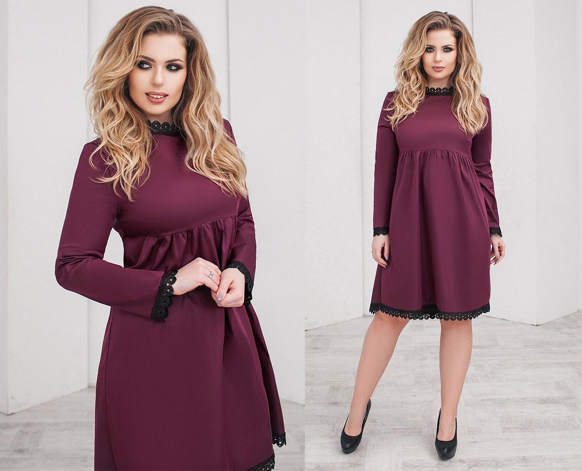 Платье БАТАЛ кружево в расцветках 703025