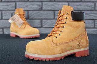 Мужские (женские) зимние ботинки Timberland 6 inch Yellow с натуральным мехом, фото 3