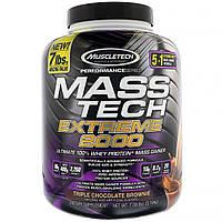 Muscletech, Mass Tech Extreme 2000, тройной шоколадный брауни, 7 фунтов (3,18 кг)