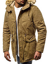 Мужская зимняя куртка J.Style горчичного цвета топ реплика, фото 2