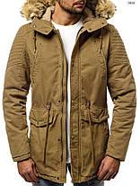 Мужская зимняя куртка J.Style горчичного цвета топ реплика, фото 3