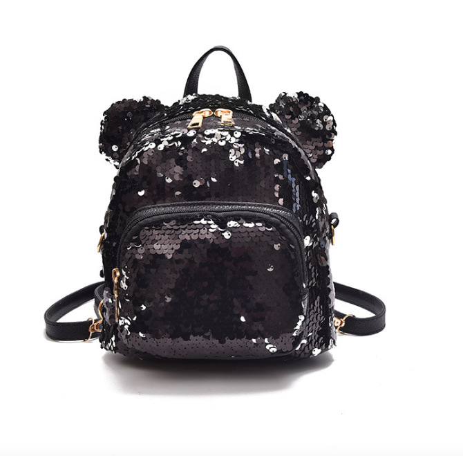 102ee862bb84 Рюкзак женский сумка мишка с пайетками Черный - Интернет магазин GoFashion  в Белой Церкви