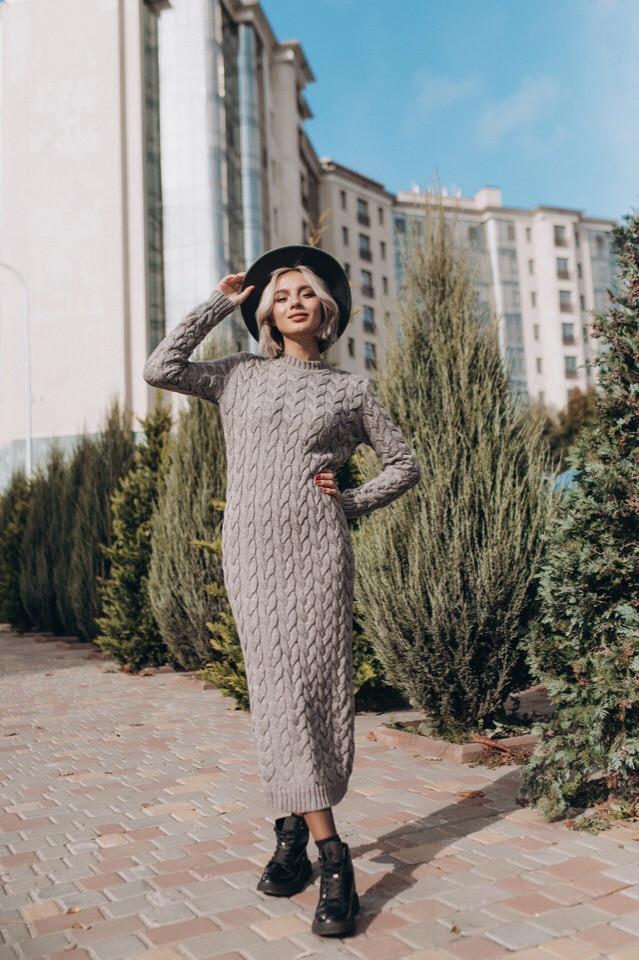 женское стильное вязаное платье снежинка продажа цена в киеве