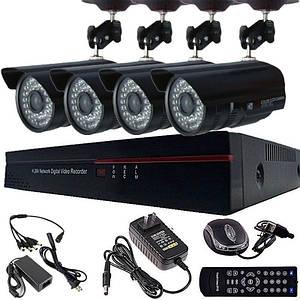 4х канальная система домашнего видеонаблюдения (264 DVR 6104V 4 CHANNEL)