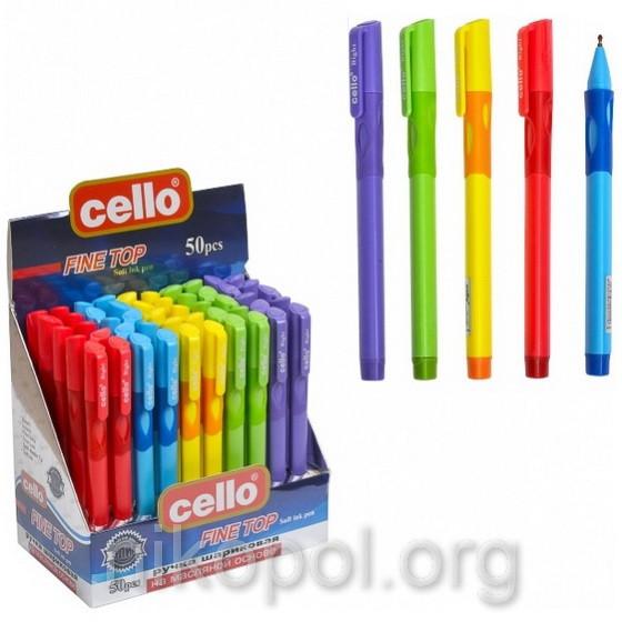 """Ручка-самоучка (тренажер) для левшей Cello """"Fine Top"""" 1361, синяя"""