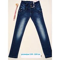 Джинсы для девочки с ремнем рост 134-164 см