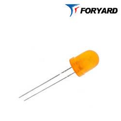 Светодиод оранжевый 8mm. FYL8003 UEC (620nm. оранж;1800mcd, 20°) круглый, матовый, 20° FORYARD