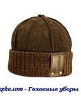 Шапка мужская замшевая коричневая, фото 2
