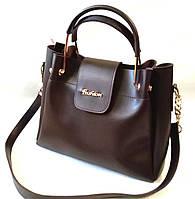 """Женская сумка, качественная """"FASHION"""", коричневая, 059185"""