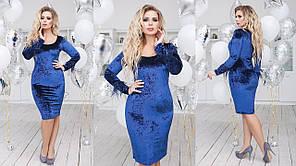 Платье БАТАЛ   миди в расцветках 702140, фото 2