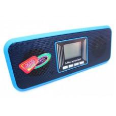 Портативная MP3 колонка USB плеер FM AT-8860 Blue, фото 1