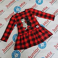 Детские платья в клеточку для девочек оптом AGATKA