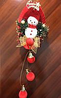 Новогодняя композиция Снеговик на качели