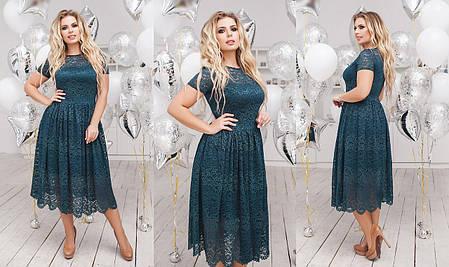 Платье БАТАЛ   гипюр в расцветках  702105, фото 2