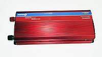 Инвертор преобразователь напряжения Power Inverter 2000W 24V в 220V Вольтметр, фото 2