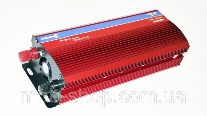 Инвертор преобразователь напряжения Power Inverter 2000W 24V в 220V Вольтметр